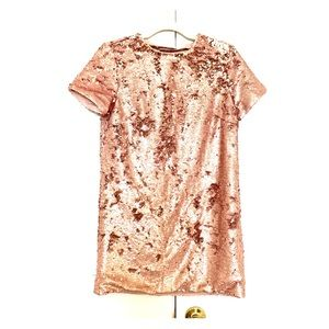 Rose Gold Sequin Mini Dress